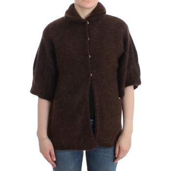 Clothing Women Jackets / Cardigans Roberto Cavalli Brown mohair knitted c 28