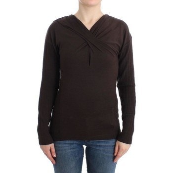 Clothing Women Jumpers Roberto Cavalli Brown knitted wool swe 28