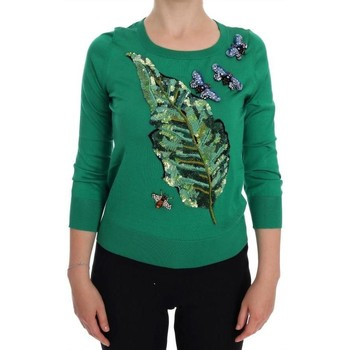 Clothing Women Sweaters D&G Green Silk Cry 25
