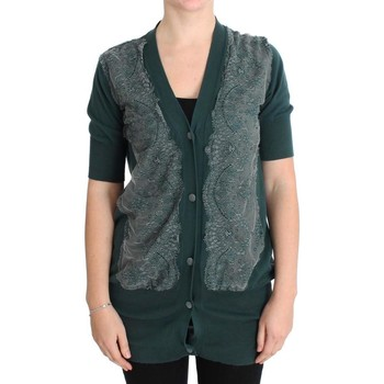 Clothing Women Jackets / Cardigans Pink Memories Green Lace Cotto 25