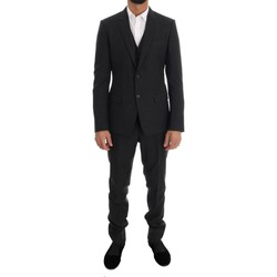 Clothing Men Suits D&G Gray Patterned 35