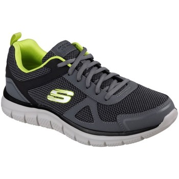 Shoes Men Low top trainers Skechers Track Bucolo Mens Casual Trainers grey
