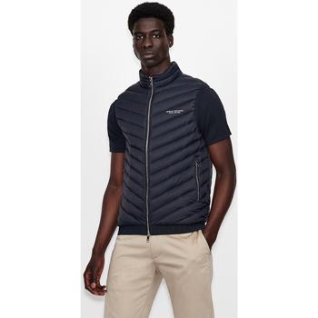 Clothing Men Jackets EAX Doudoune sans manche  8NZQ52-ZNW3Z navy bleu marine/gris foncé