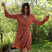 Clothing Women Short Dresses Soi Paris x Spartoo PAPILLES Brown
