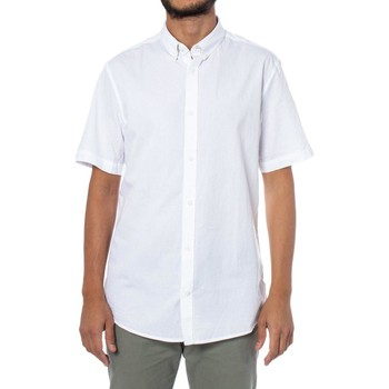 Clothing Men Short-sleeved shirts Only & Sons  Men's Shirt In Whi White