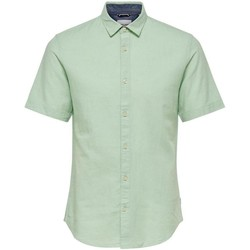 Clothing Men Short-sleeved shirts Only & Sons  Men's Shirt In Gre 25