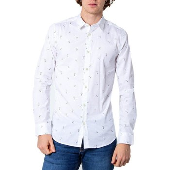 Clothing Men Long-sleeved shirts Only & Sons  Men's Shirt In Whi White