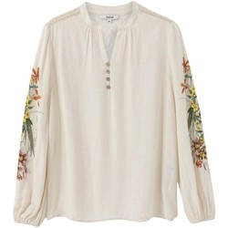 Clothing Women Tops / Blouses Desigual Women's Blouse In Whi 1