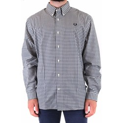 Clothing Men Long-sleeved shirts Fred Perry Men's Shirt In Mult Multicolor