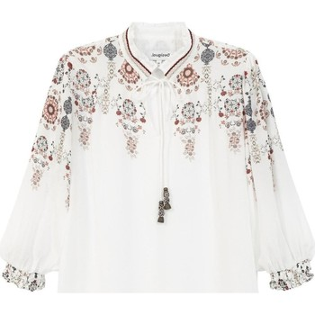 Clothing Women Tops / Blouses Desigual Women's Blouse In Whi White