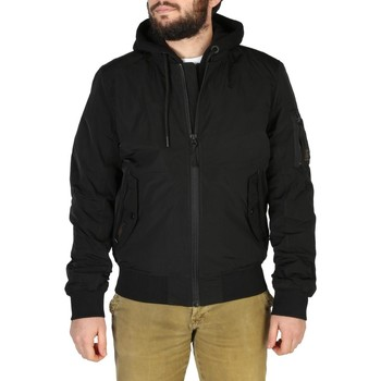 Clothing Men Sweaters Superdry Mens Jackets Black