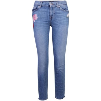 Clothing Women Skinny jeans 7 for all Mankind Floral Embro Blue