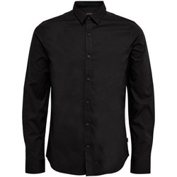 Clothing Men Long-sleeved shirts Only & Sons  Men's Shirt In Bla 38