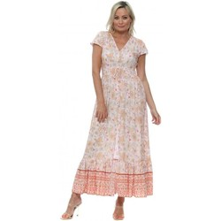 Clothing Women Long Dresses Qed London Pale Pink Floral Maxi Dress Pink