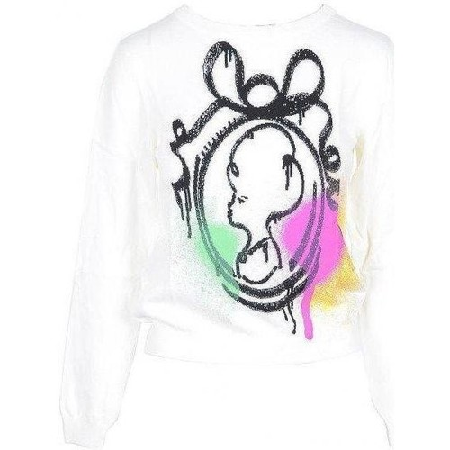 Clothing Women Jumpers Moschino Women's Knit White