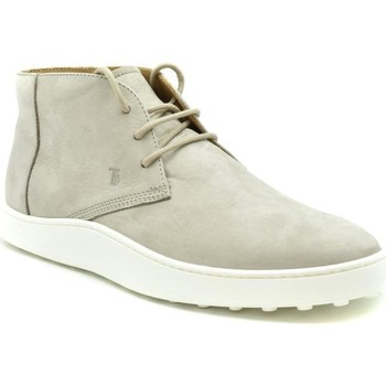 Shoes Men Mid boots Tod`s Men's Moccassin In Grey 35