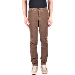 Clothing Men Chinos Incotex Men's Trousers In Brow 28