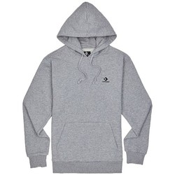 Clothing Men Sweaters Converse Embroidered PO FT Hoodie Grey