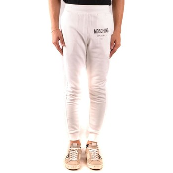 Clothing Men Tracksuit bottoms Moschino Men's Trousers In Whi 1