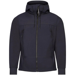Clothing Men Fleeces Cp Company Goggle Jacket Soft Shell - Total Eclipse