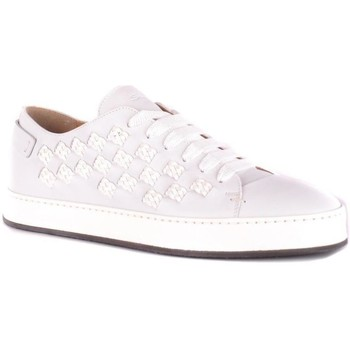 Shoes Men Low top trainers Santoni Men's Sneakers In Whit White