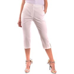 Clothing Women Cropped trousers Moschino Women's Trousers In W White
