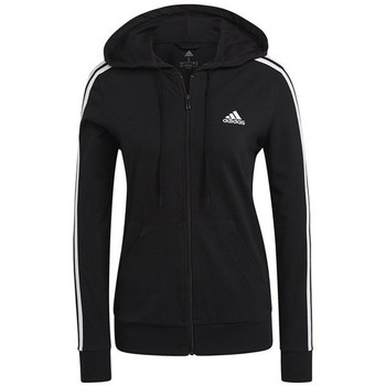Clothing Women Sweaters adidas Originals W 3STRIPES SJ FZ HD Black