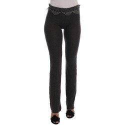 Clothing Women Chinos Ermanno Scervino Gray Wool Str 35