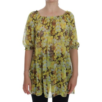 Clothing Women Tops / Blouses D&G Yellow Floral 4