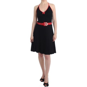 Clothing Women Short Dresses Rocco Barocco Black belted pall 38