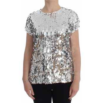 Clothing Women Tops / Blouses D&G Silver Sequine 46