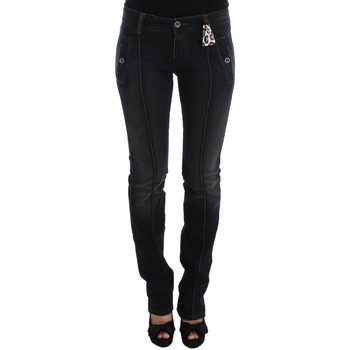 Clothing Women Straight jeans Ermanno Scervino Blue Wash Cot 19