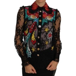 Clothing Women Tops / Blouses D&G Black Lace Cry 38