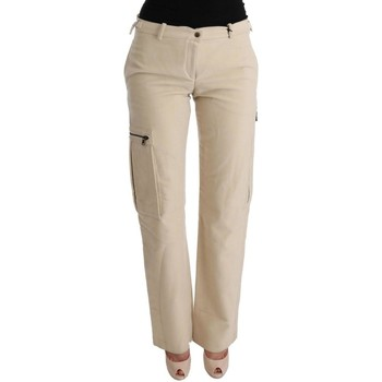 Clothing Women Cargo trousers Ermanno Scervino Beige Wool Cr 6887