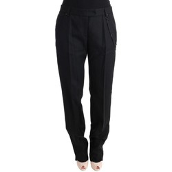 Clothing Women Formal trousers Ermanno Scervino Black Wool Re 38