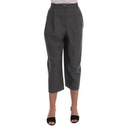 Clothing Women Cropped trousers D&G Gray Wool Capr 35