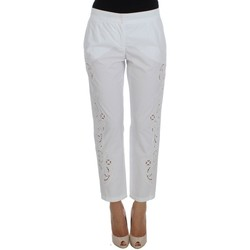 Clothing Women Chinos D&G White Floral C 1