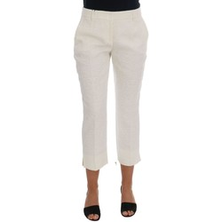 Clothing Women Chinos D&G White Floral B 1