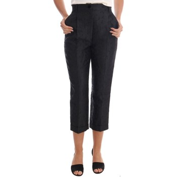 Clothing Women Cropped trousers D&G Black Floral B 38