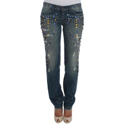 Clothing Women Straight jeans D&G Crystal Embell 19