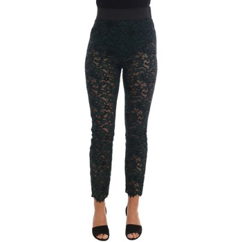 Clothing Women Chinos D&G Green Floral L 25