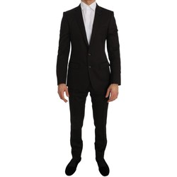 Clothing Men Suits D&G Brown Wool Cry 28