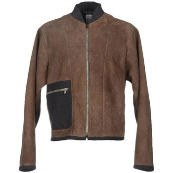 Clothing Men Leather jackets / Imitation leather D&G Brown Gray Lea 28