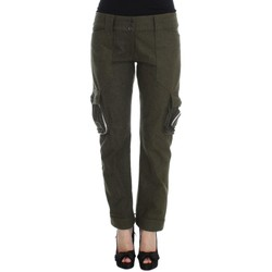 Clothing Women Cargo trousers Ermanno Scervino Green Wool Bl 25