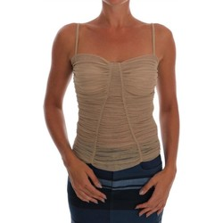 Clothing Women Tops / Blouses D&G Beige Stretch 6887