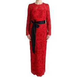 Clothing Women Long Dresses D&G Red Floral Ric 8