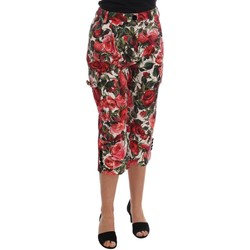 Clothing Women Cropped trousers D&G Multicolor Ros 594