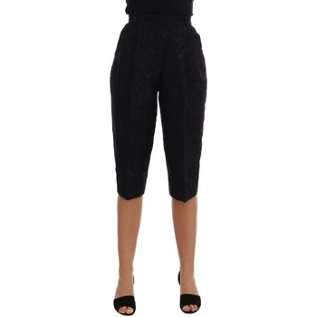 Clothing Women Cropped trousers D&G Black Brocade 38