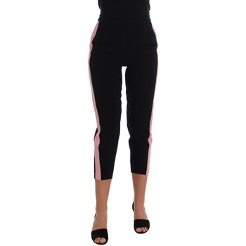 Clothing Women Cropped trousers D&G Black Stretch 38