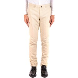 Clothing Men Chinos Incotex Men's Trousers In Whit 1